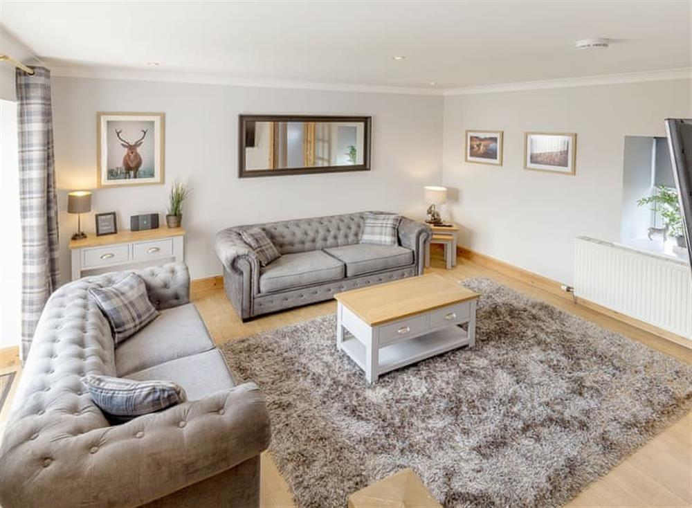 Attractive living room at Hilton Farm Steadings in Rosyth, near Dunfermline, Fife