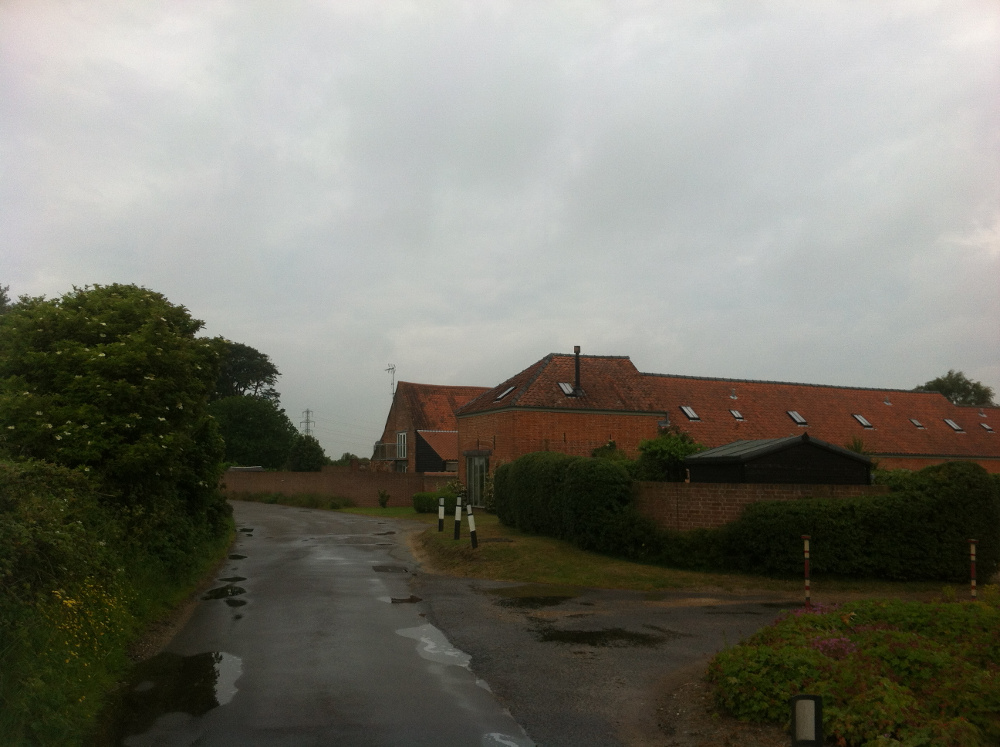 The setting of Hobland Barn