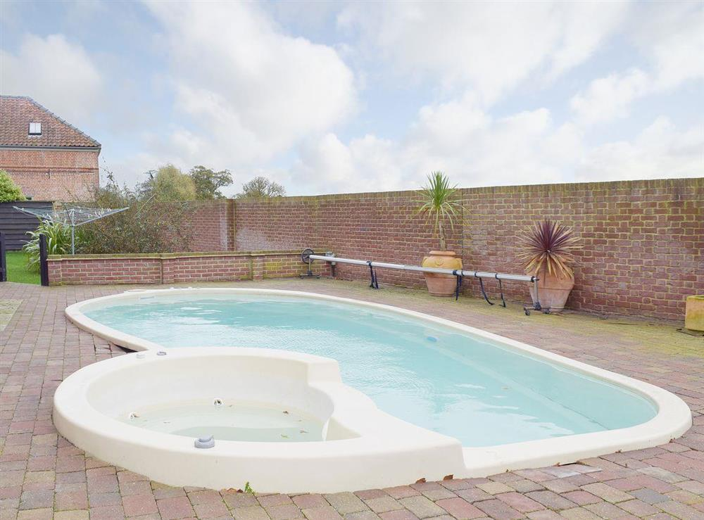 Swimming pool at Hobland Barn in Bradwell, near Gorleston, Norfolk