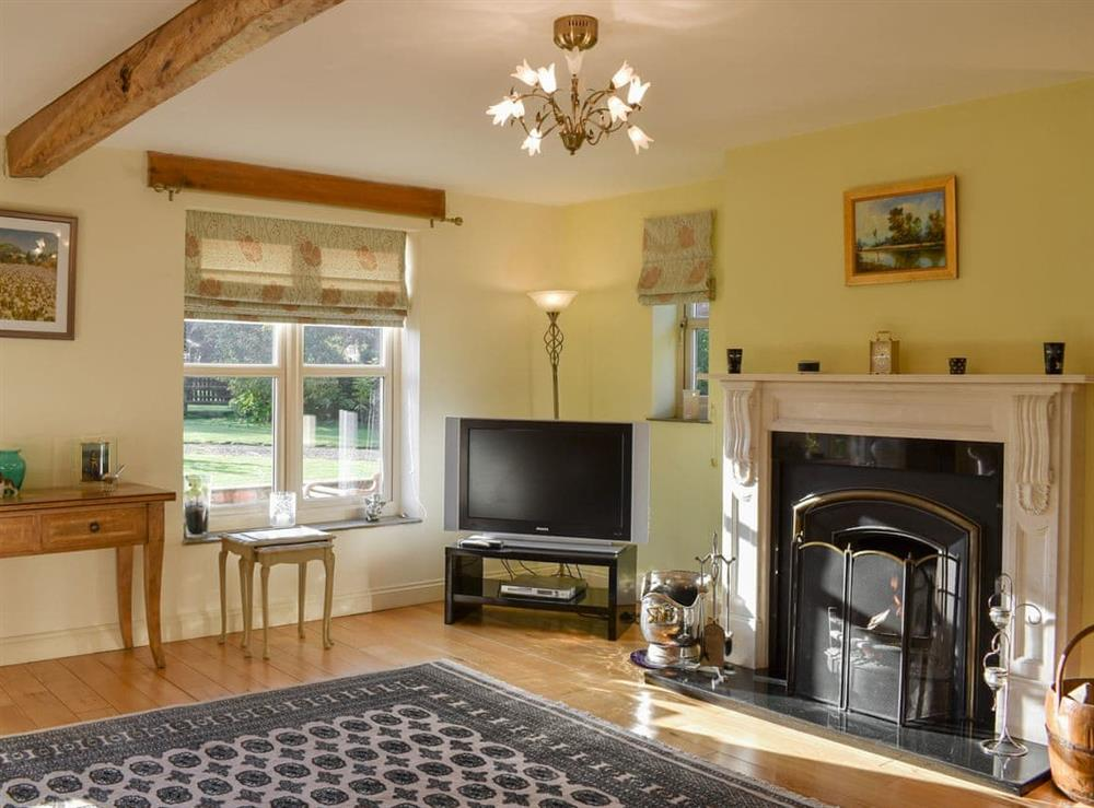 Living room at Holly Croft in Skerne, near Driffield, North Humberside