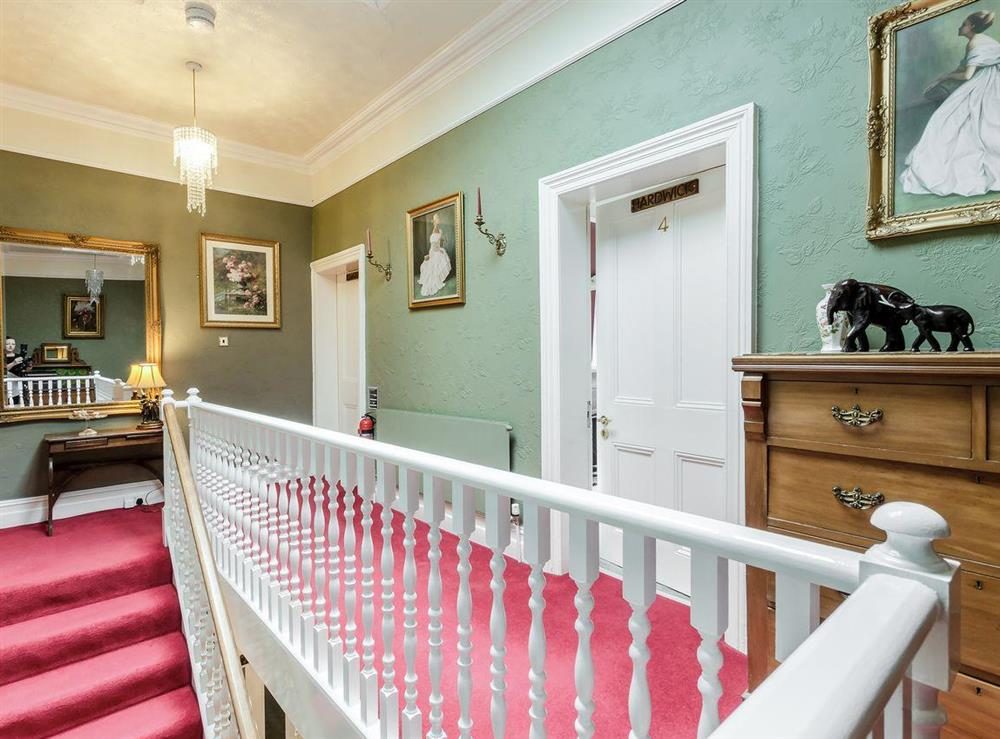 Stairs & landing at Holmefield House in Darley Dale, near Matlock, Derbyshire