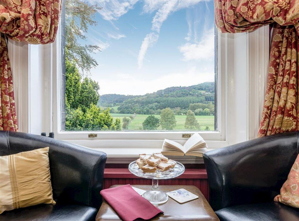 Window views at Holmefield House in Darley Dale, near Matlock, Derbyshire