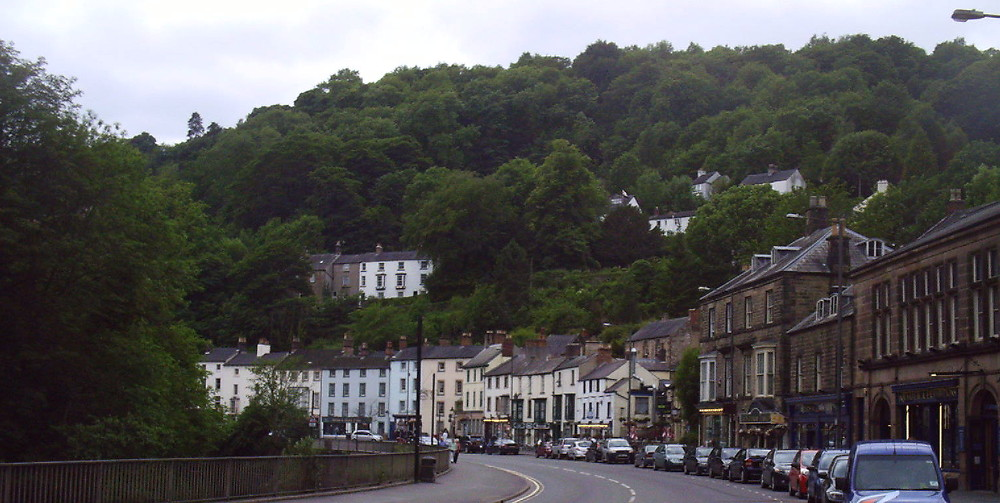 The high Street in Matlock at Holmefield House in Darley Dale, near Matlock