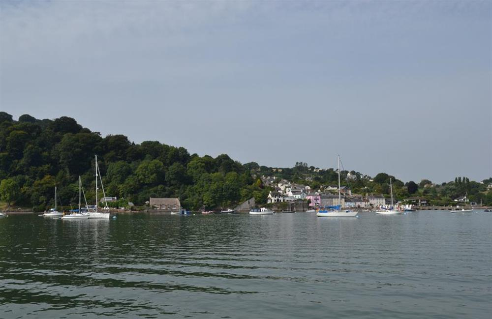 Dittisham from across the estuary at Homelands, Dittisham