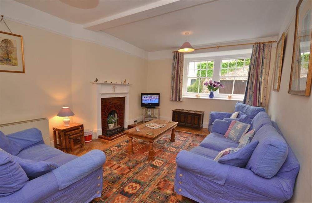 The comfortable sitting room at Homelands, Dittisham