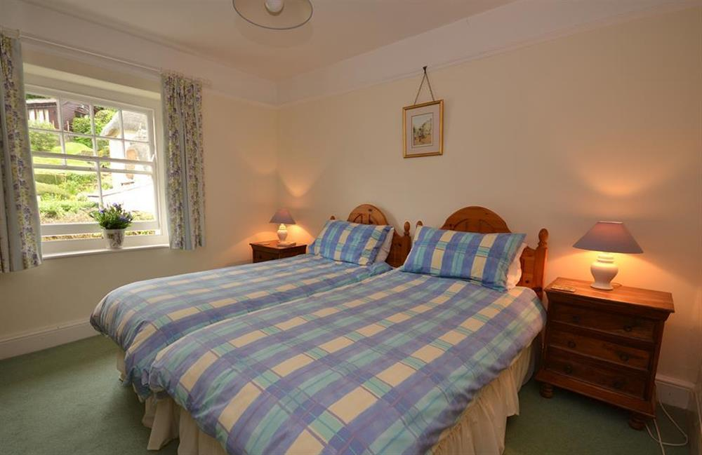 The first floor twin bedroom at Homelands, Dittisham