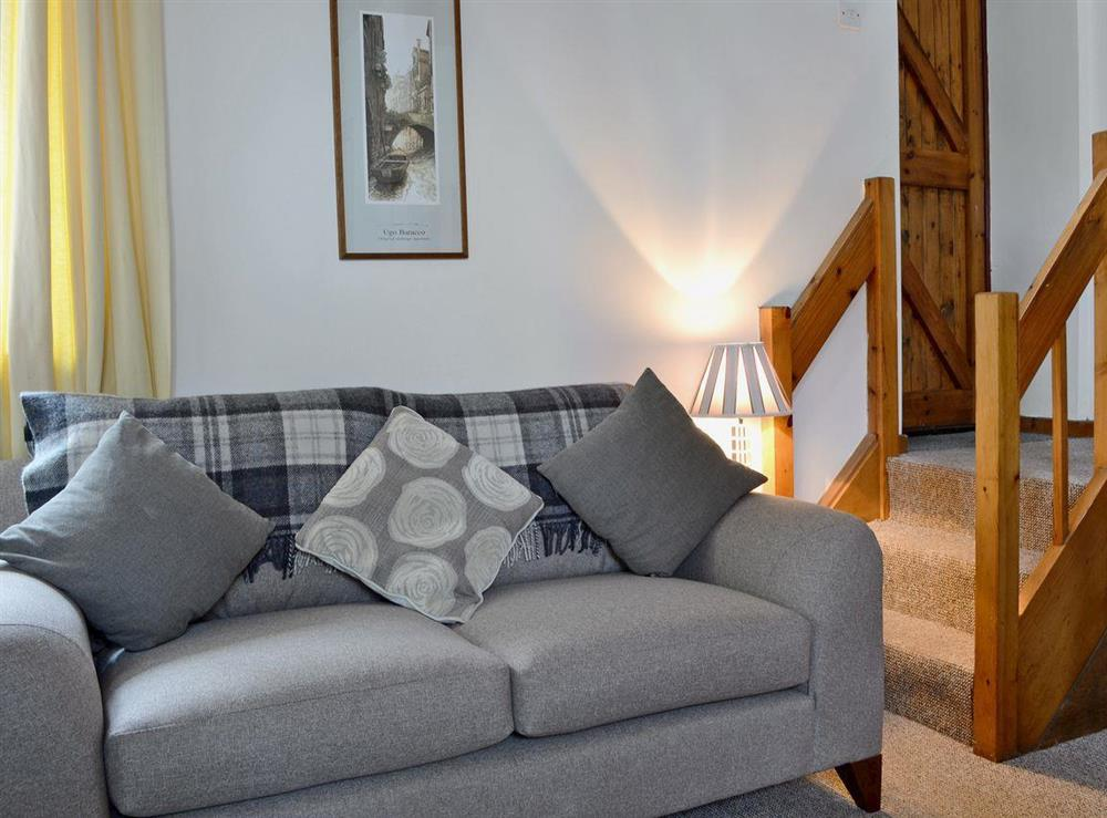 Cosy open plan living space at Honeysuckle Cottage in Mold, Clwyd