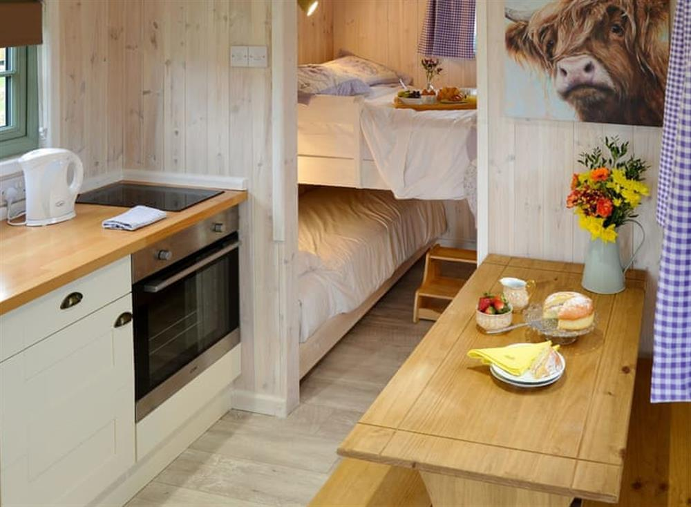 Typical open plan living space at Hut 2,