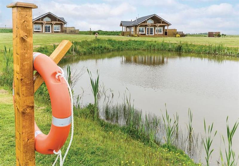 The park setting at Hornsea Lakeside Lodges in , Hornsea