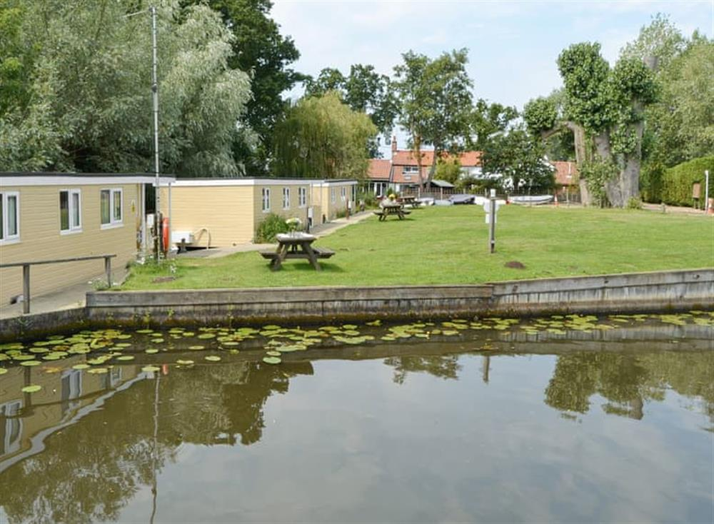 Attractive waterside holiday homes at Halcyon,