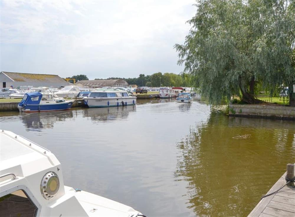 The peaceful waterway at Maud,