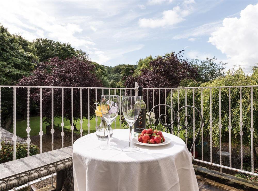 Balcony at Howe Villa in Richmond, North Yorkshire