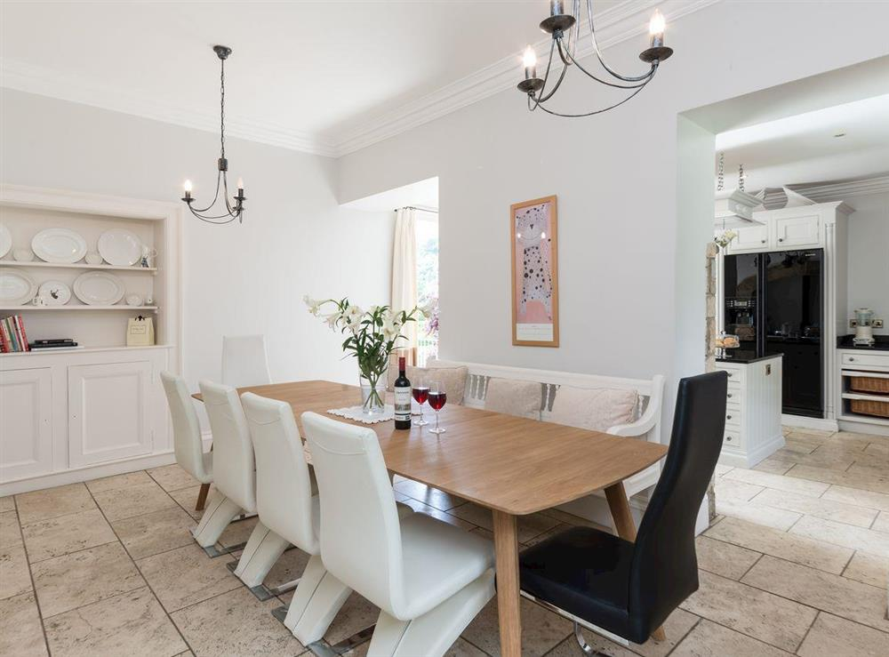 Dining area at Howe Villa in Richmond, North Yorkshire