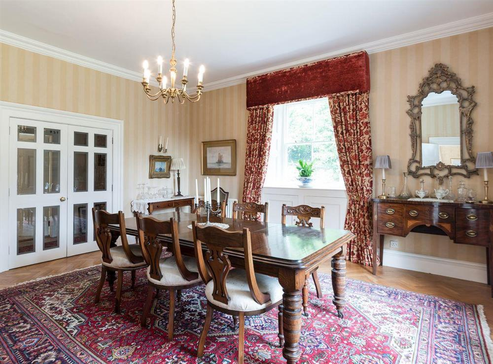 Dining room at Howe Villa in Richmond, North Yorkshire