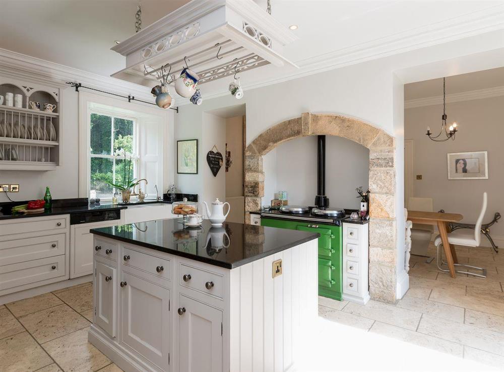 Kitchen with range cooker at Howe Villa in Richmond, North Yorkshire