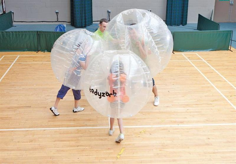 Body Zorbs at Hunters Quay in Argyllshire, Southern Highlands