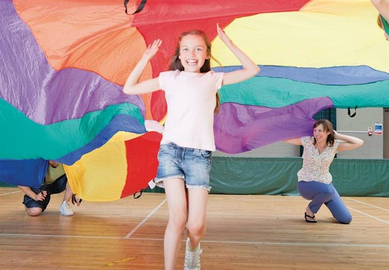 Parachute games at Hunters Quay in Argyllshire, Southern Highlands