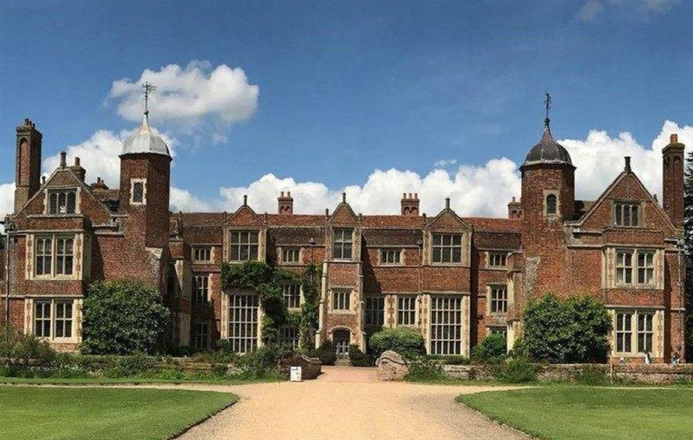 The historical stately home of Kentwell Hall in Long Melford