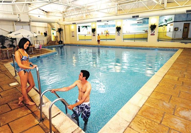 Indoor heated swimming pool at Ilfracombe Holiday Park in , Devon