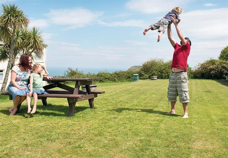 The park views at Ilfracombe Holiday Park in , Devon