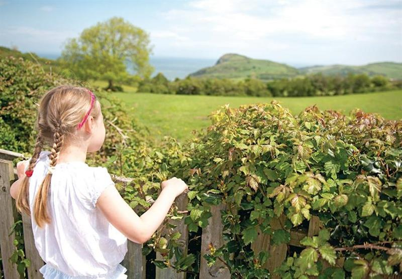 Views from the park at Ilfracombe Holiday Park in , Devon