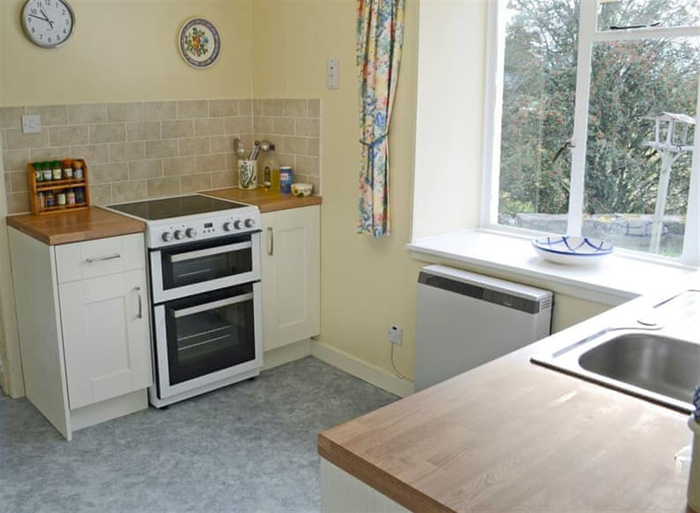 Well equipped kitchen at Inch Alla in Linside, near Lairg, Sutherland