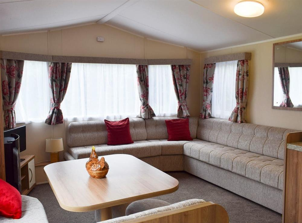 Open plan living space at Inches Lodge in Larbert near Falkirk, Stirlingshire