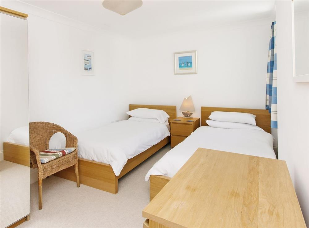 Twin bedroom at Inglewood Cottages 2 in Swannaton, Devon