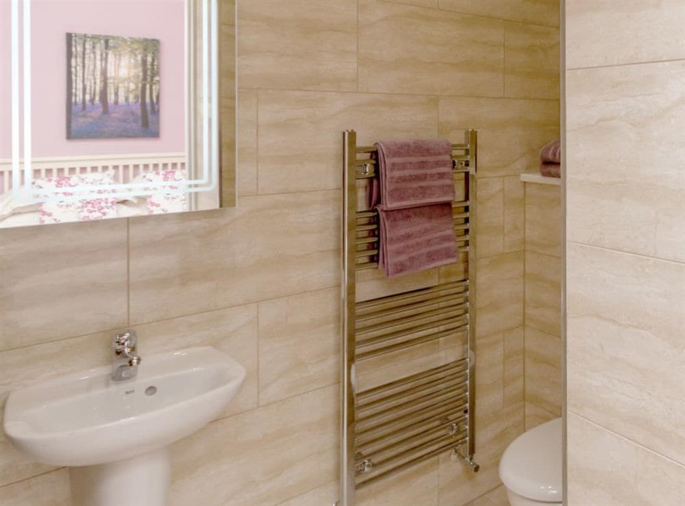 En-suite shower at Graces Cottage,