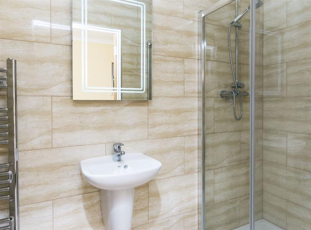 Excellent en-suite shower room at Graces Cottage,