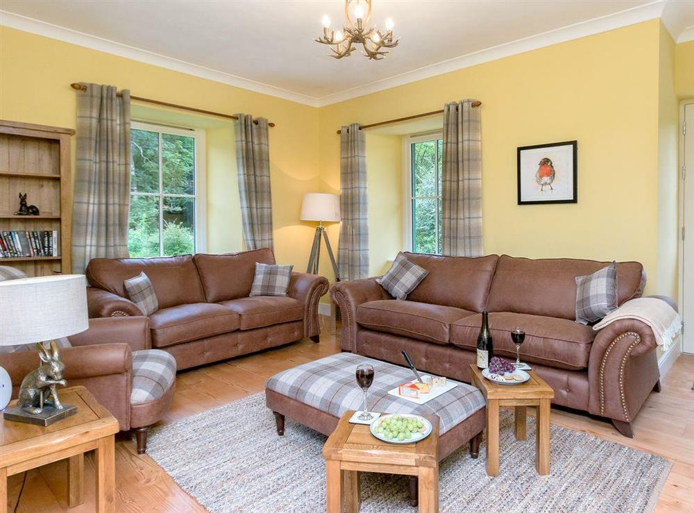 Spacious, comfortable living room at Graces Cottage,