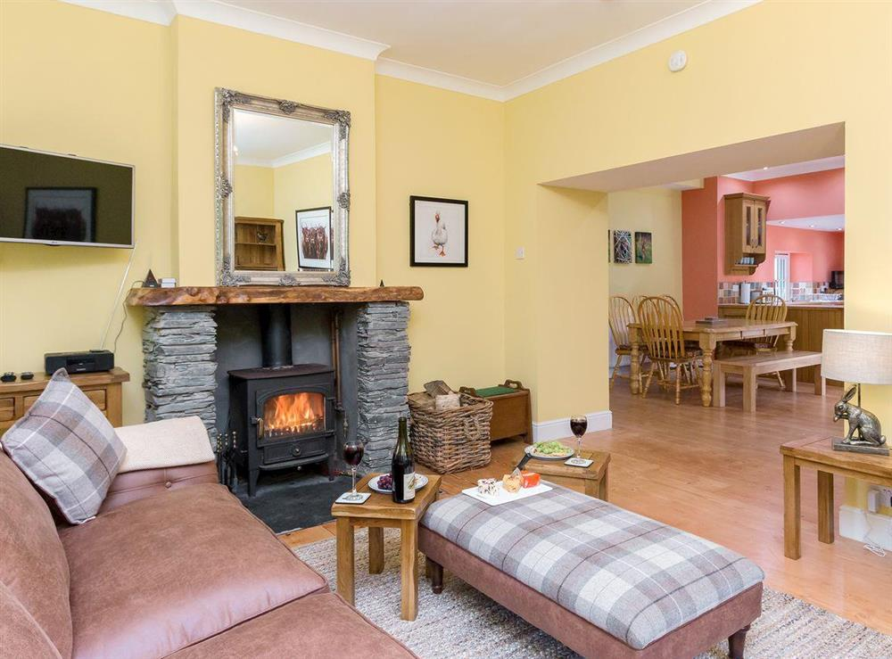 Warm and inviting living room at Graces Cottage,