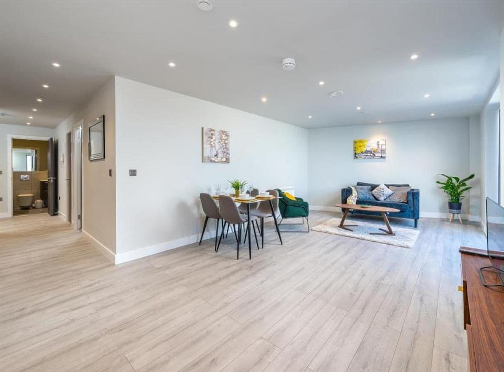 Open plan living space at Iron House in Slough, Berkshire