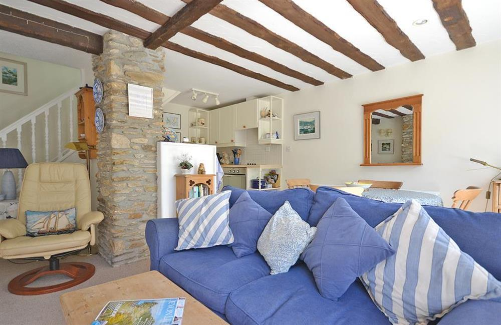 Another view of the open plan living area at Jays Cottage, Modbury