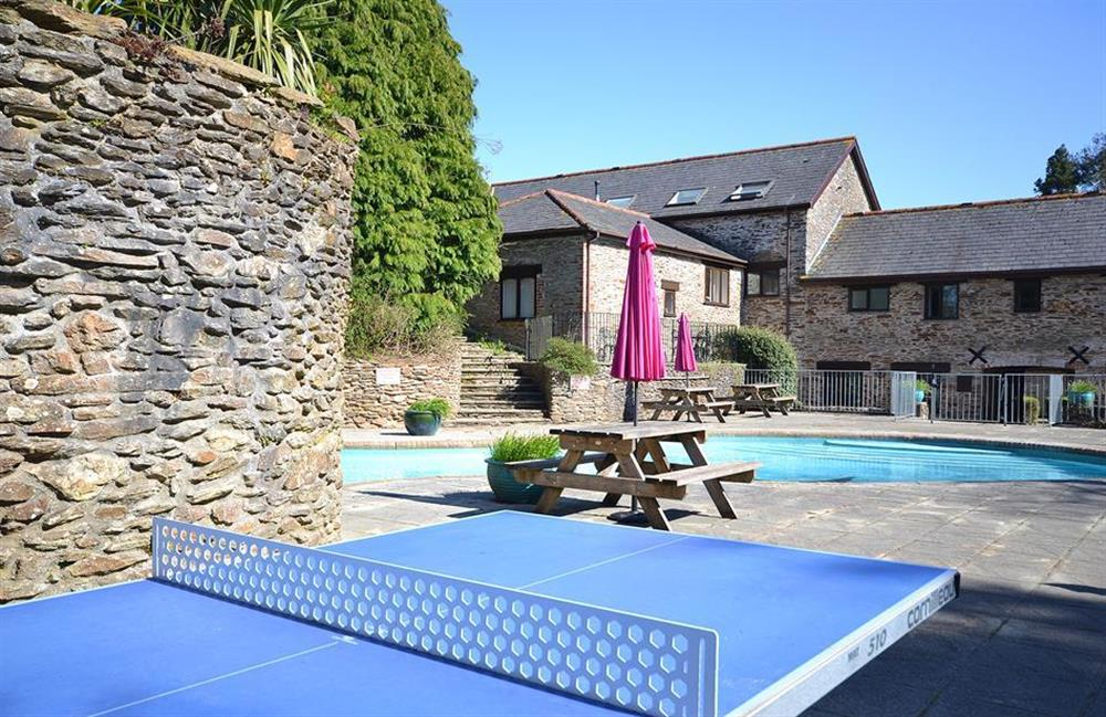 Another view of the outdoor pool area at Jays Cottage, Modbury