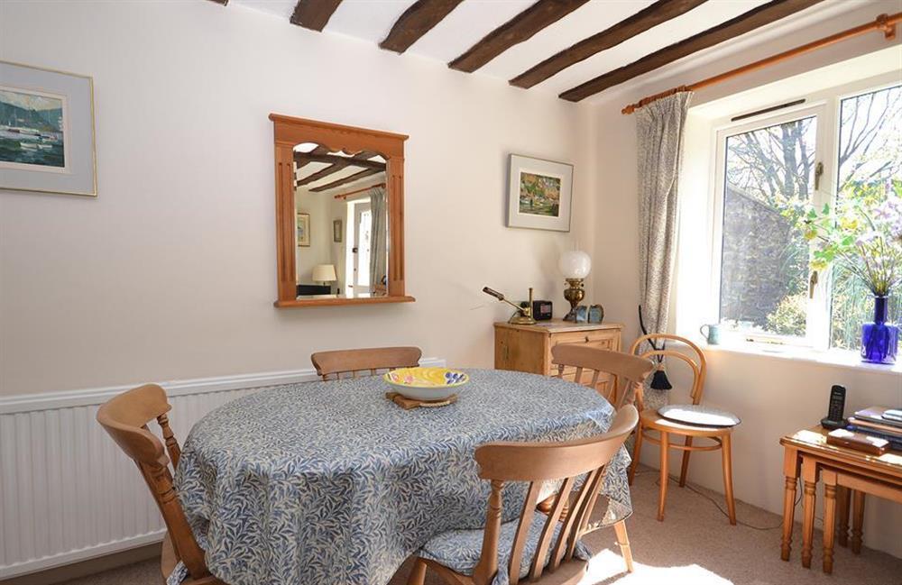 The dining area at Jays Cottage, Modbury
