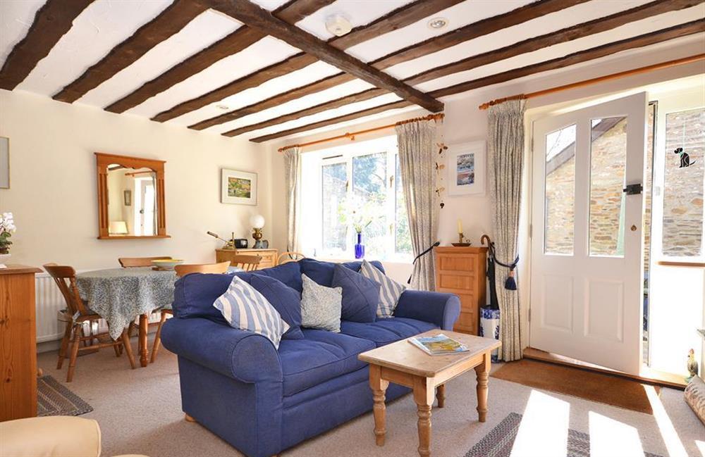 The open plan living area at Jays Cottage, Modbury