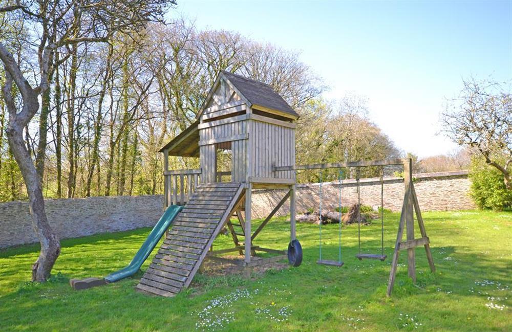 The play area at Jays Cottage, Modbury