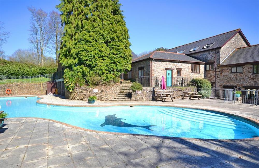 The superb outdoor swimming pool at Colmer at Jays Cottage, Modbury