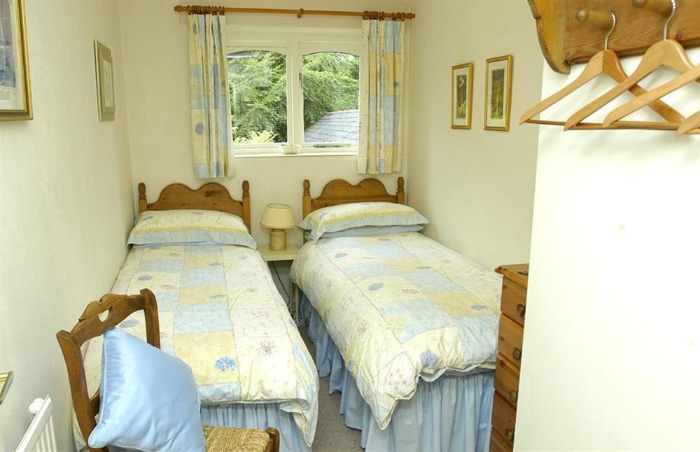 The twin bedroom at Jays Cottage, Modbury