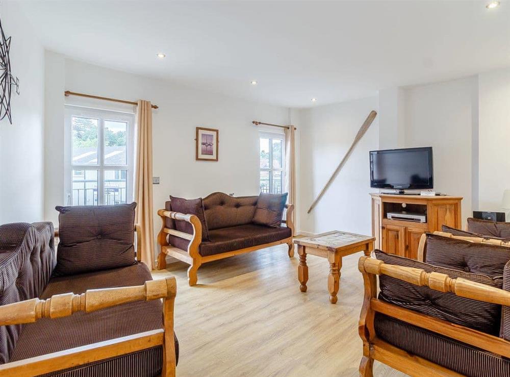 Living room at Jib Sail in Wroxham, Norfolk