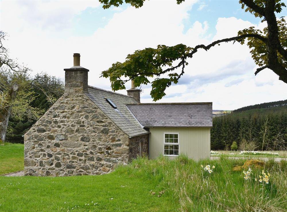 Exterior at Jockey Milnes Croft in Glen Deveron, by Huntly, Aberdeenshire., Great Britain