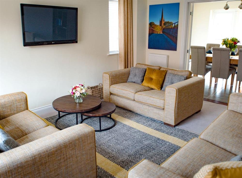 Living room at Julians Retreat in Wroxham, Norfolk