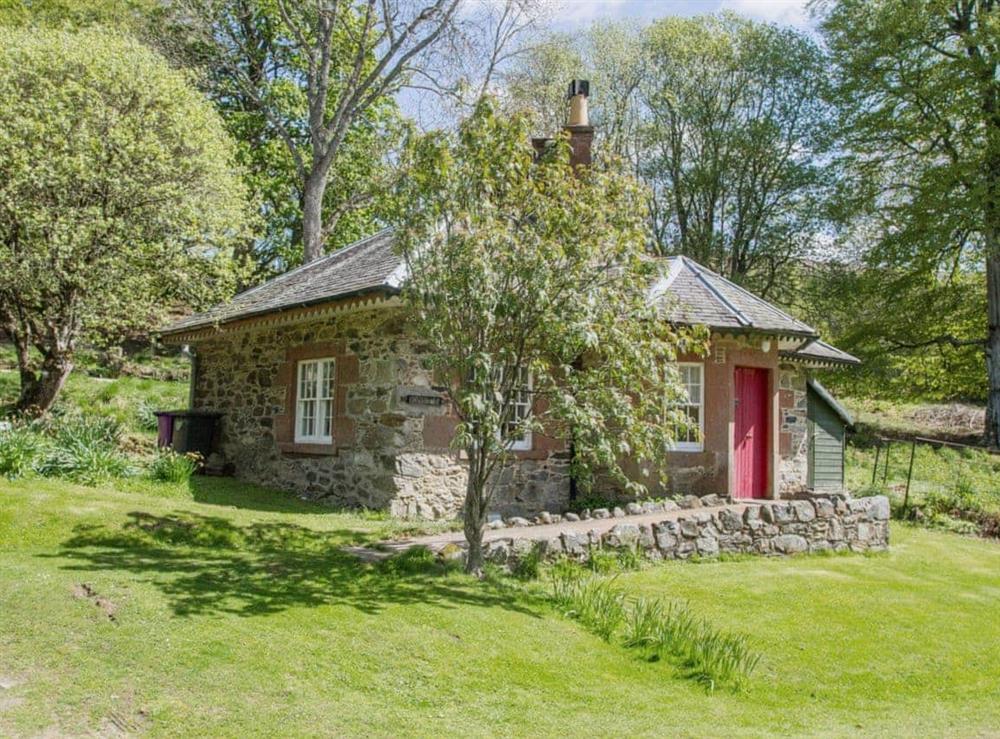 Exterior at Katy's Cottage in Glenprosen, by Kirriemuir, Angus., Great Britain