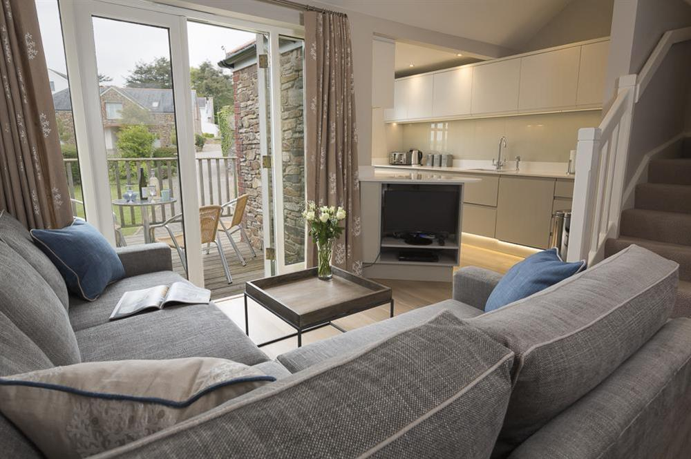 Open plan kitchen, living and dining areas (photo 2) at Keepers Cottage 4 in Hillfield, Dartmouth