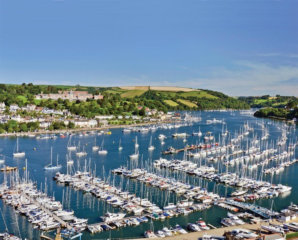 Looking over Dartmouth harbour at Keepers Cottage 5 in Hillfield, Dartmouth