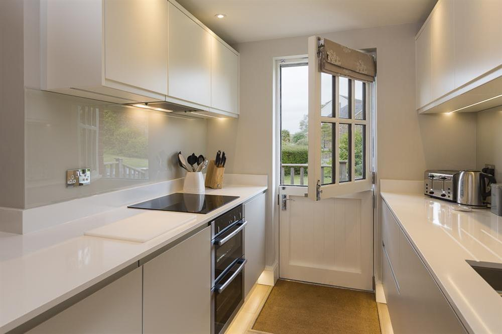 Modern, well equipped kitchen at Keepers Cottage 5 in Hillfield, Dartmouth