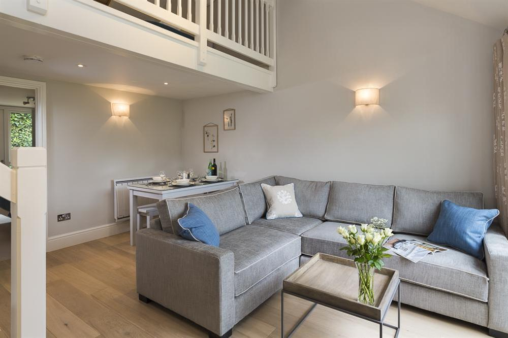 Open-plan kitchen, living and dining areas at Keepers Cottage 5 in Hillfield, Dartmouth