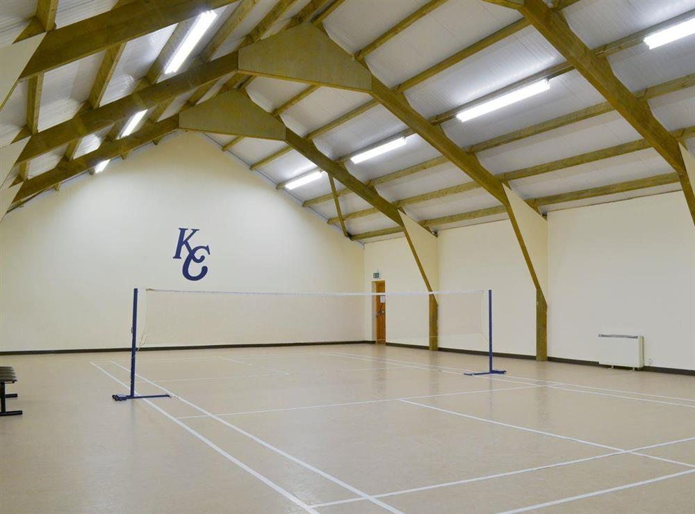 Indoor badminton/volleyball court