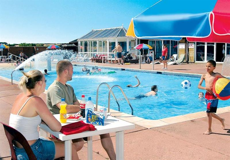 Outdoor heated fun pool at Kessingland Beach in Lowestoft, Suffolk